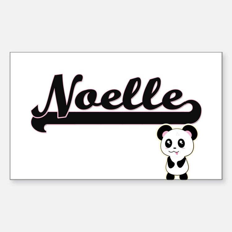 Noelle Classic Retro Name Design with Pand Decal