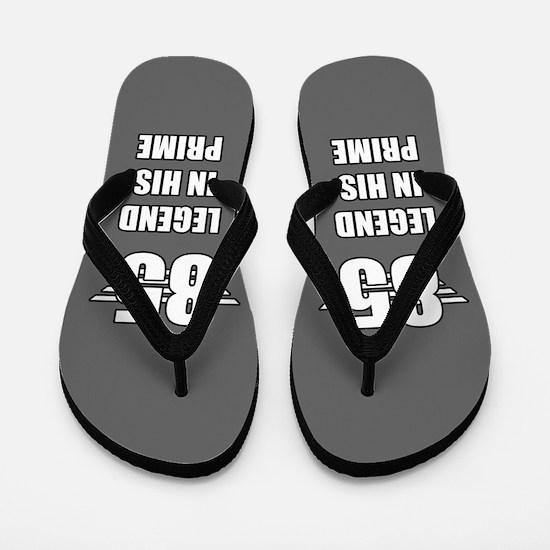 85th Birthday For Men Flip Flops