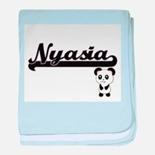Nyasia Classic Retro Name Design with baby blanket