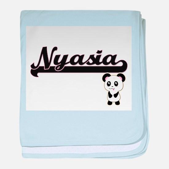 Nyasia Classic Retro Name Design with baby blanket