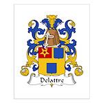 Delattre Family Crest Small Poster
