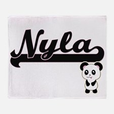 Nyla Classic Retro Name Design with Throw Blanket