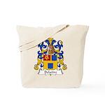 Delattre Family Crest Tote Bag