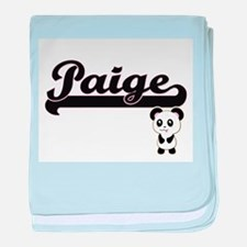 Paige Classic Retro Name Design with baby blanket