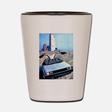 Delorean DMC 12 World Trade Center Shot Glass