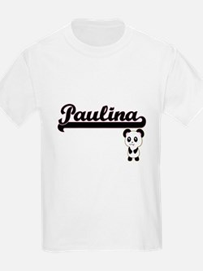 Paulina Classic Retro Name Design with Pan T-Shirt