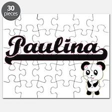 Paulina Classic Retro Name Design with Pand Puzzle