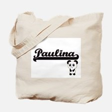 Paulina Classic Retro Name Design with Pa Tote Bag