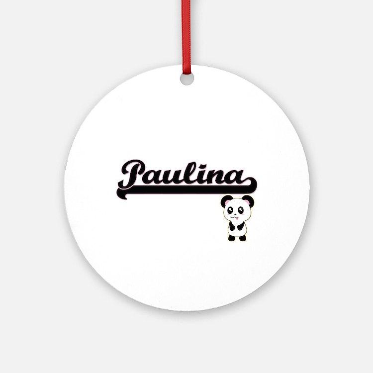 Paulina Classic Retro Name Design Ornament (Round)