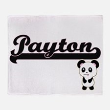 Payton Classic Retro Name Design wit Throw Blanket
