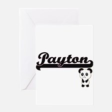 Payton Classic Retro Name Design wi Greeting Cards