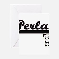 Perla Classic Retro Name Design wit Greeting Cards