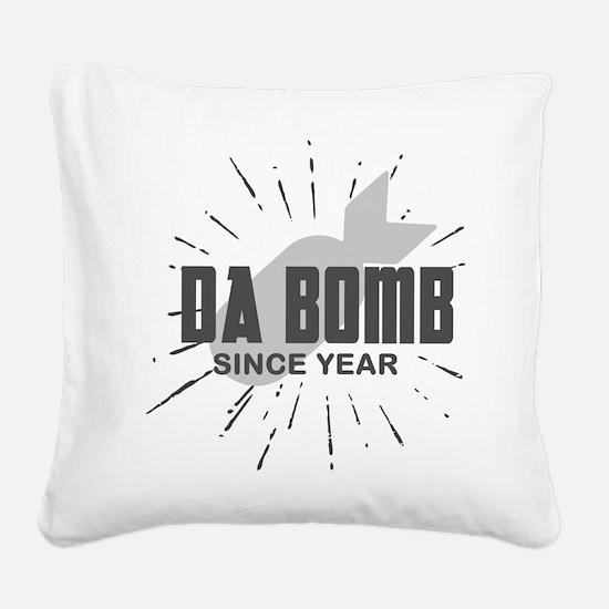 Personalized Birthday The Da Square Canvas Pillow