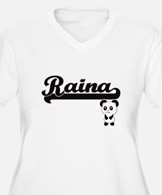 Raina Classic Retro Name Design Plus Size T-Shirt
