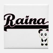 Raina Classic Retro Name Design with Tile Coaster
