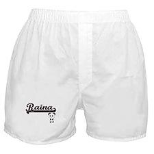 Raina Classic Retro Name Design with Boxer Shorts