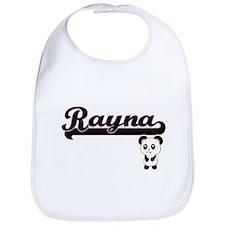 Rayna Classic Retro Name Design with Panda Bib