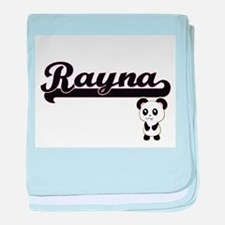 Rayna Classic Retro Name Design with baby blanket