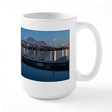 Tennessee River Twilight Bridge Large Mugs