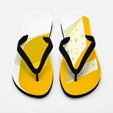 Cheese Wheel Flip Flops