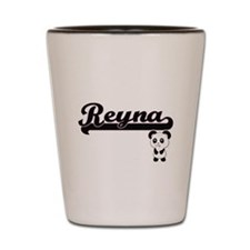 Reyna Classic Retro Name Design with Pa Shot Glass