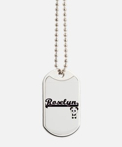 Roselyn Classic Retro Name Design with Pa Dog Tags