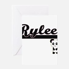 Rylee Classic Retro Name Design wit Greeting Cards