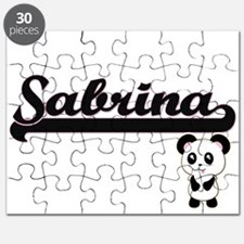 Sabrina Classic Retro Name Design with Pand Puzzle