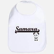 Samara Classic Retro Name Design with Panda Bib