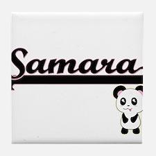 Samara Classic Retro Name Design with Tile Coaster