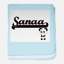 Sanaa Classic Retro Name Design with baby blanket