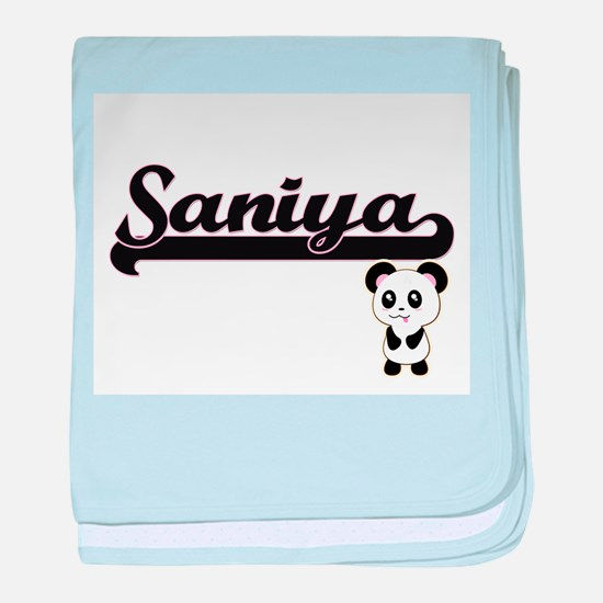 Saniya Classic Retro Name Design with baby blanket