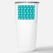 Teal Squares Marguerite Travel Mug