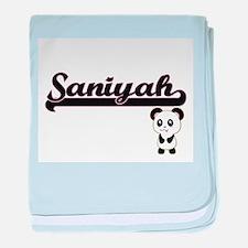 Saniyah Classic Retro Name Design wit baby blanket