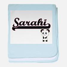 Sarahi Classic Retro Name Design with baby blanket