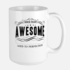 Personalized Birthday Aged To Perfectio Large Mug