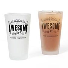 Personalized Birthday Aged To Perfe Drinking Glass