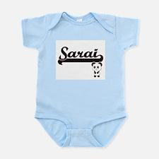 Sarai Classic Retro Name Design with Pan Body Suit