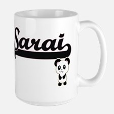 Sarai Classic Retro Name Design with Panda Mugs