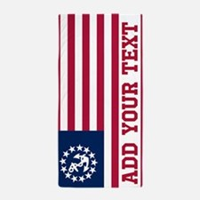Personalized American Yacht Flag Beach Towel