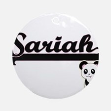 Sariah Classic Retro Name Design Ornament (Round)