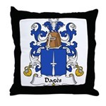 Dages Family Crest  Throw Pillow
