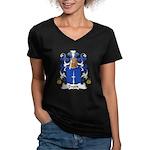 Dages Family Crest  Women's V-Neck Dark T-Shirt