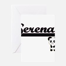 Serena Classic Retro Name Design wi Greeting Cards