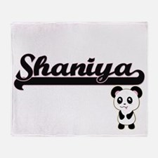 Shaniya Classic Retro Name Design wi Throw Blanket