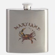 Maryland Flag Crab Flask