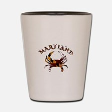 Maryland Flag Crab Shot Glass