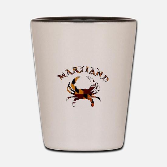 Maryland Flag Crab Shot Glass