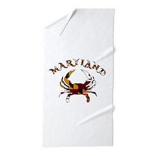 Maryland Flag Crab Beach Towel