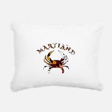 Maryland Flag Crab Rectangular Canvas Pillow